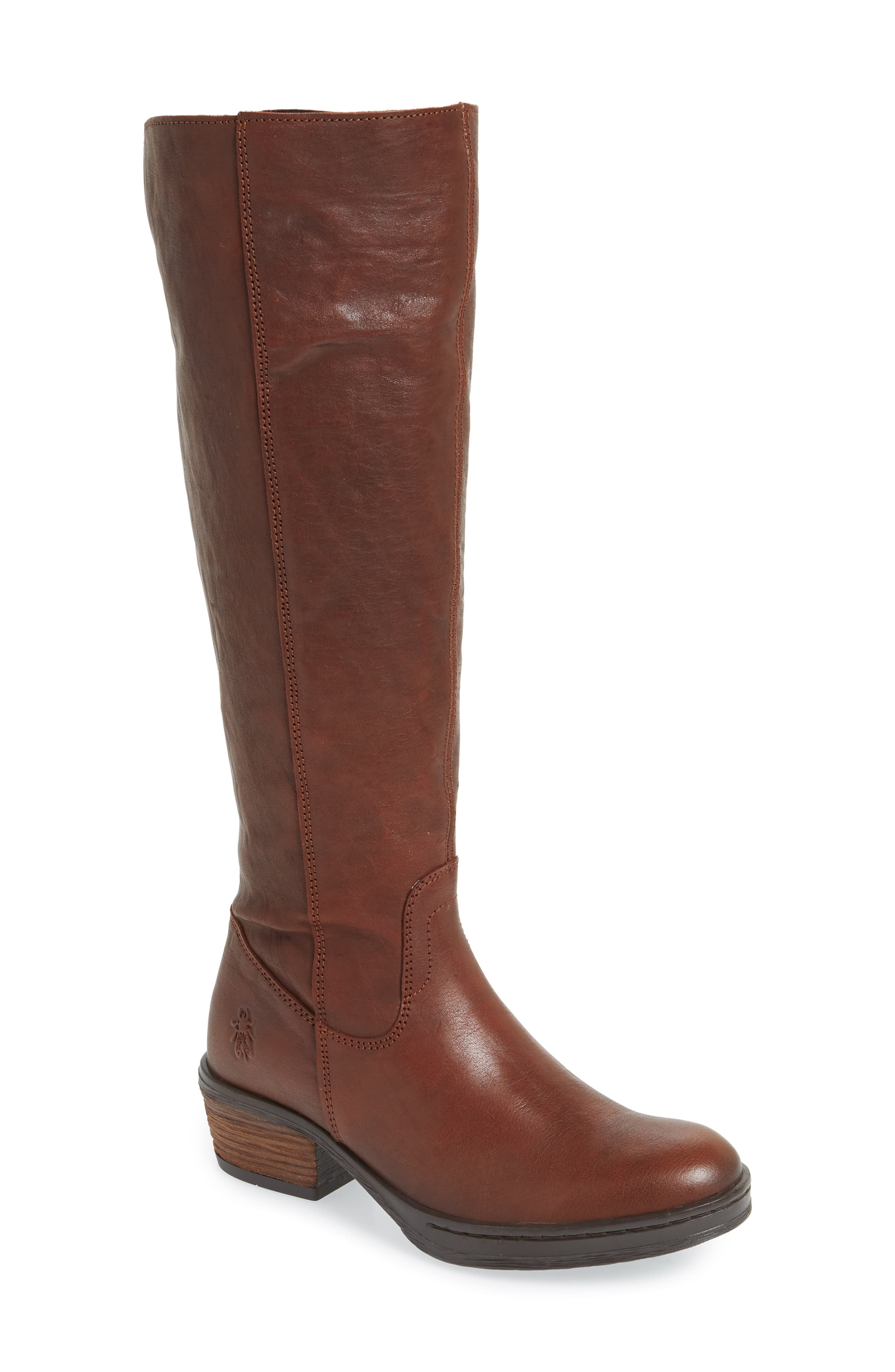 Fly London Chom Tall Boot, Brown