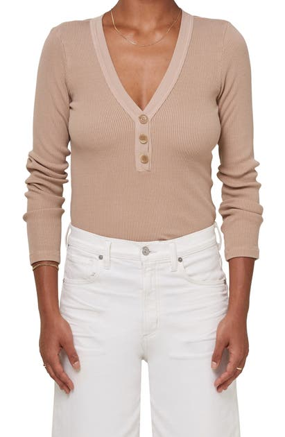 Citizens Of Humanity SCARLETT RIBBED HENLEY