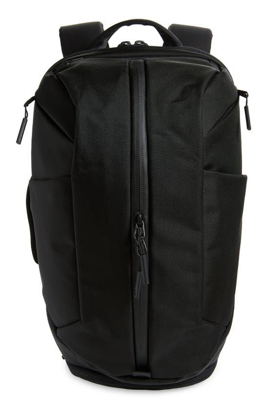 Aer Water Resistant Nylon Duffle Backpack In Black