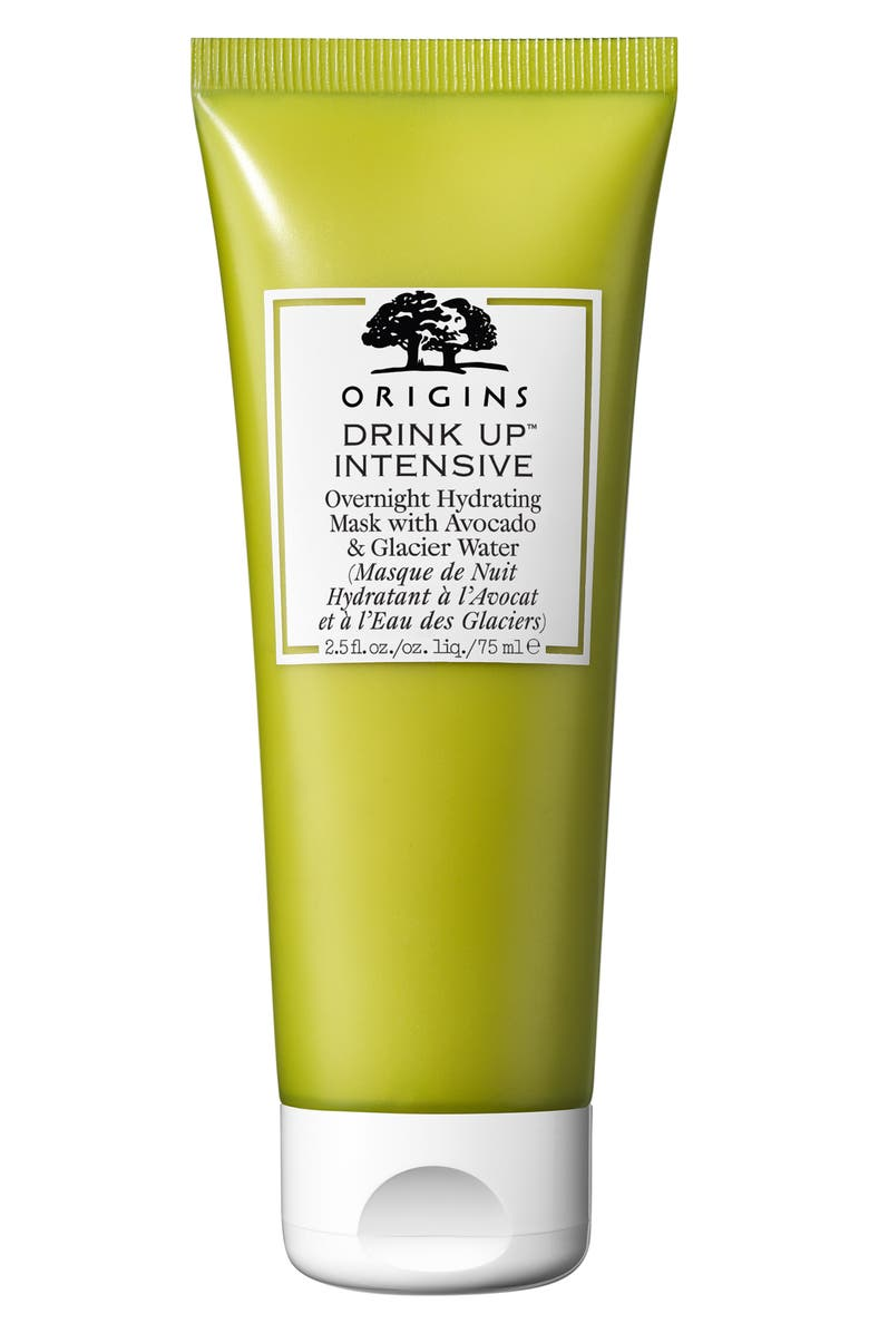 ORIGINS Drink Up<sup>™</sup> Intensive Overnight Hydrating Face Mask with Avocado & Glacier Water, Main, color, NO COLOR