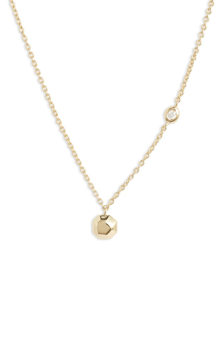 GORJANA Power Birthstone Necklace, Main, color, APRIL - DIAMOND