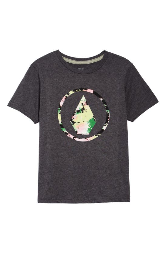 Volcom Kids' Infillion Graphic Tee In Heather Black