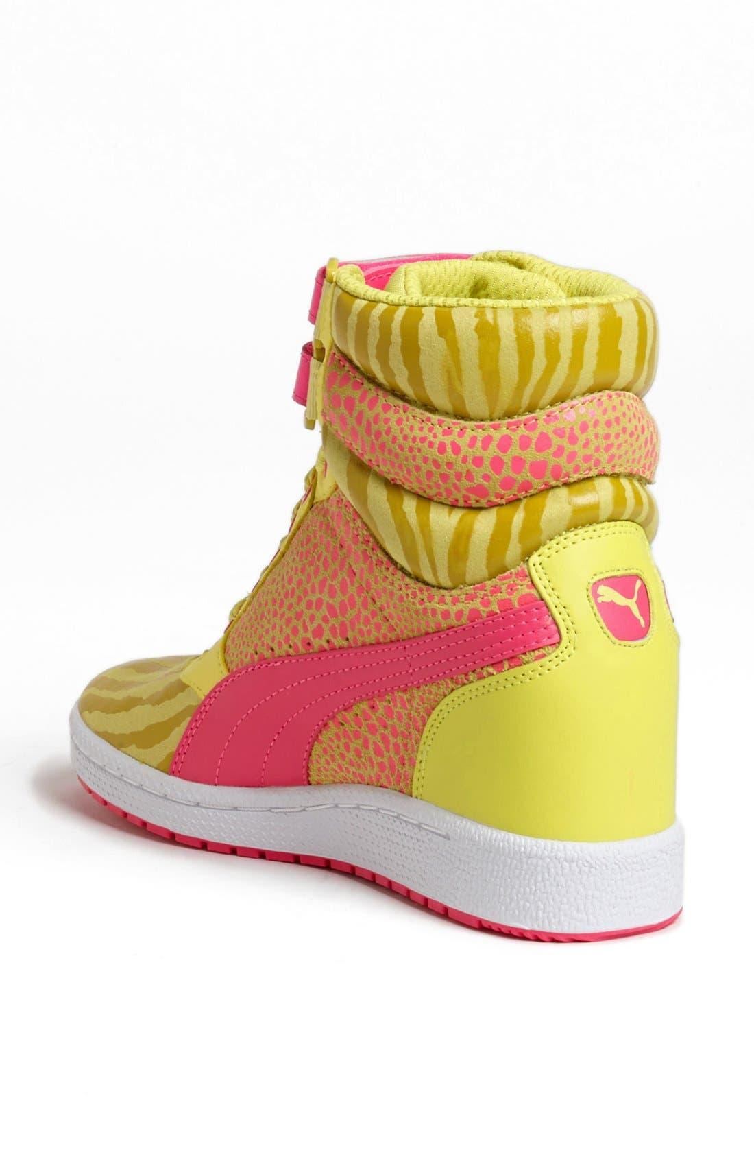,                             'Sky Wedge Reptile' Sneaker,                             Alternate thumbnail 16, color,                             750
