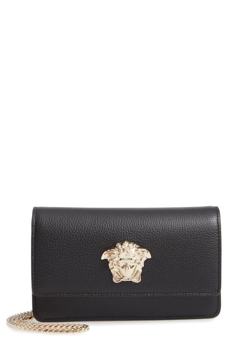 Medusa Head Leather Wallet On A Chain by Versace First Line
