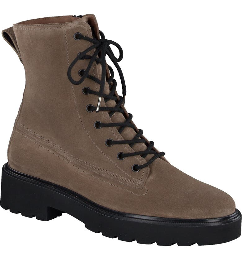 PAUL GREEN Jackson Lug Sole Boot, Main, color, ANTELOPE SUEDE