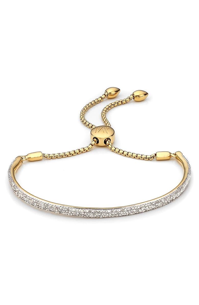 MONICA VINADER Fiji Diamond Bar Bracelet, Main, color, GOLD/ DIAMOND
