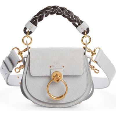 Chloe Small Tess Calfskin Leather Shoulder Bag - Grey