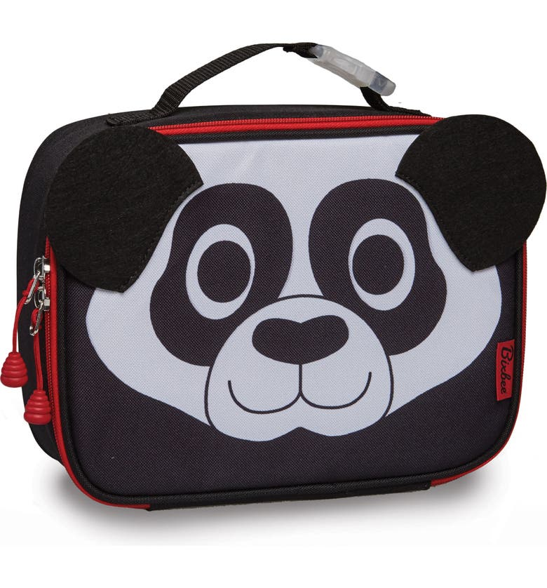 BIXBEE Panda Water Resistant Lunchbox, Main, color, BLACK