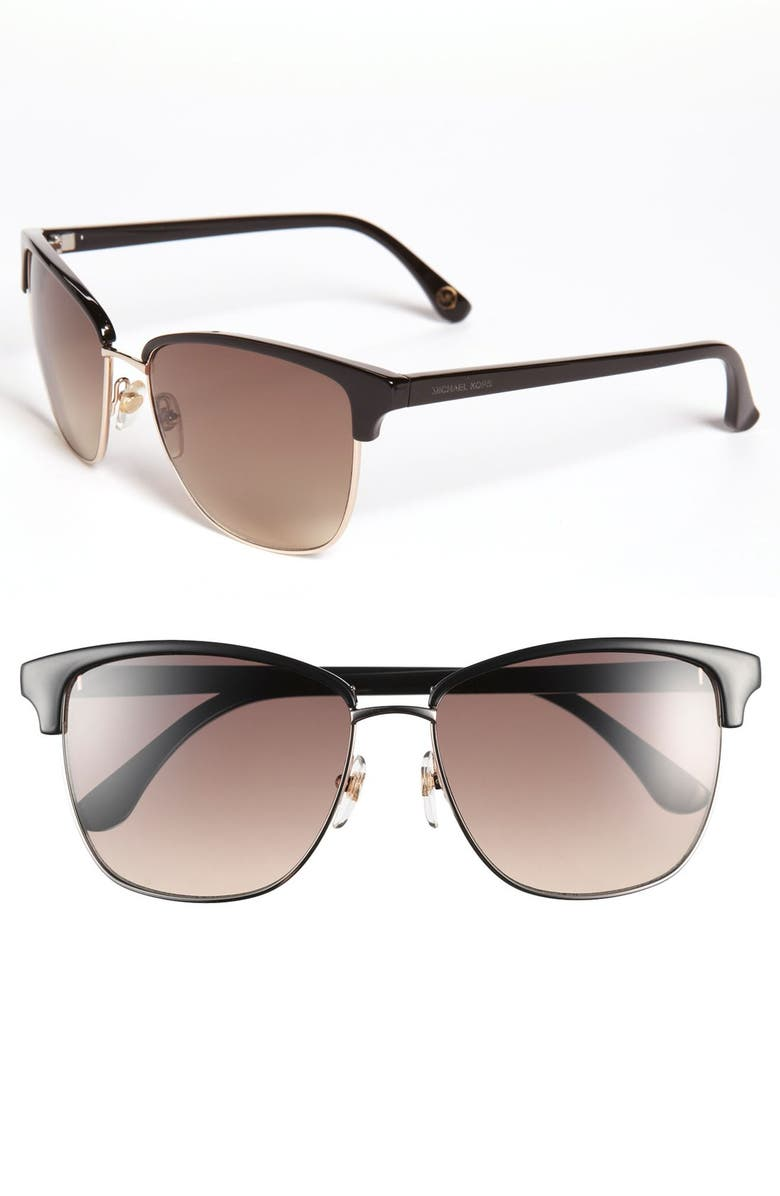 MICHAEL MICHAEL KORS 'Ruth' 57mm Retro Sunglasses, Main, color, 001