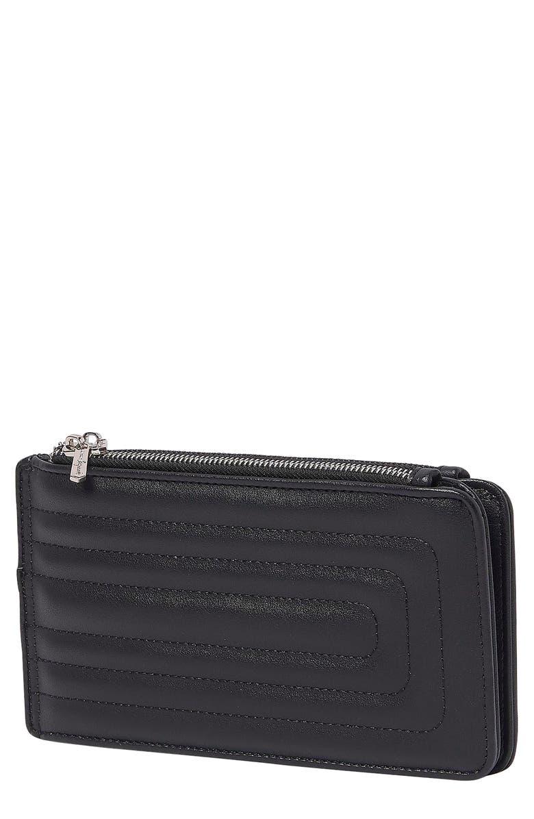 URBAN ORIGINALS Imagine Quilted Vegan Leather Wallet, Main, color, BLACK