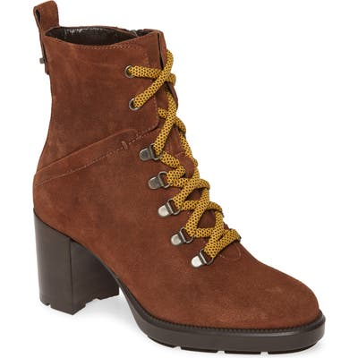 Aquatalia Ihana Water Resistant Lace-Up Boot, Brown