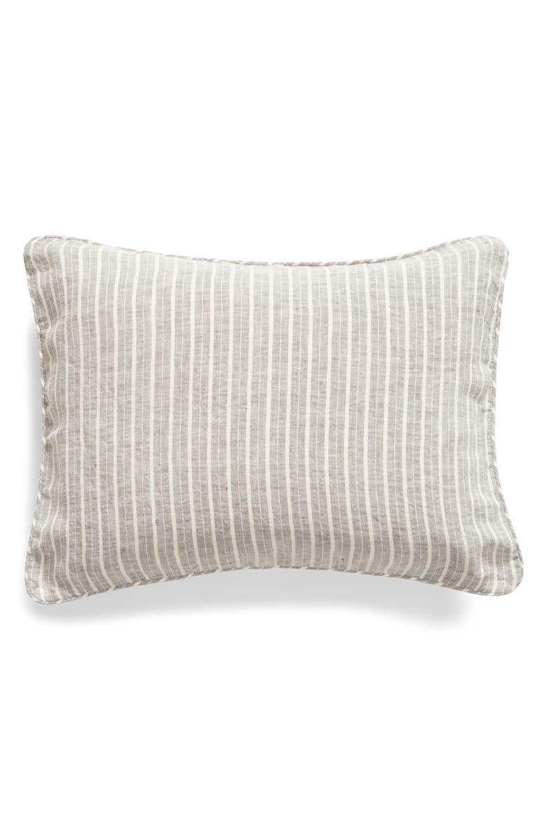 MATOUK Tristen Boudoir Pillow Sham, Main, color, ANTHRACITE/ WHITE