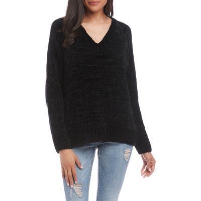 Karen Kane Chenille Sweater, Black