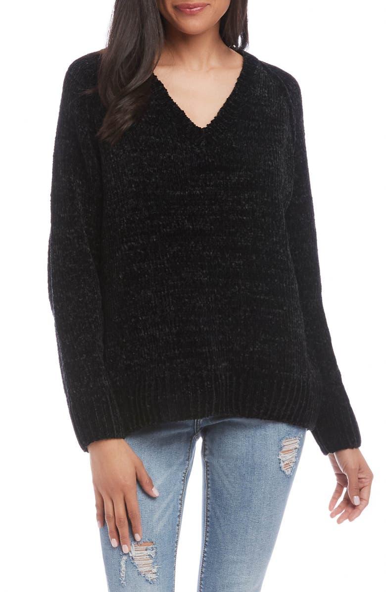KAREN KANE Chenille Sweater, Main, color, 001