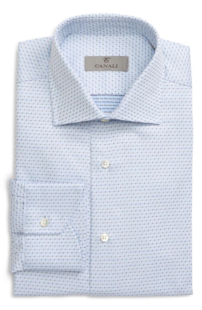 CANALI Regular Fit Print Dress Shirt, Main, color, 400