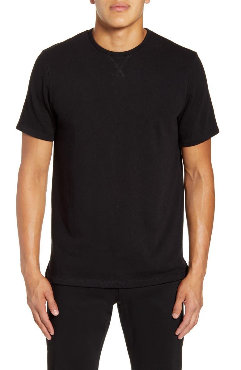 CALIBRATE Slim Fit Fleece T-Shirt, Main, color, BLACK