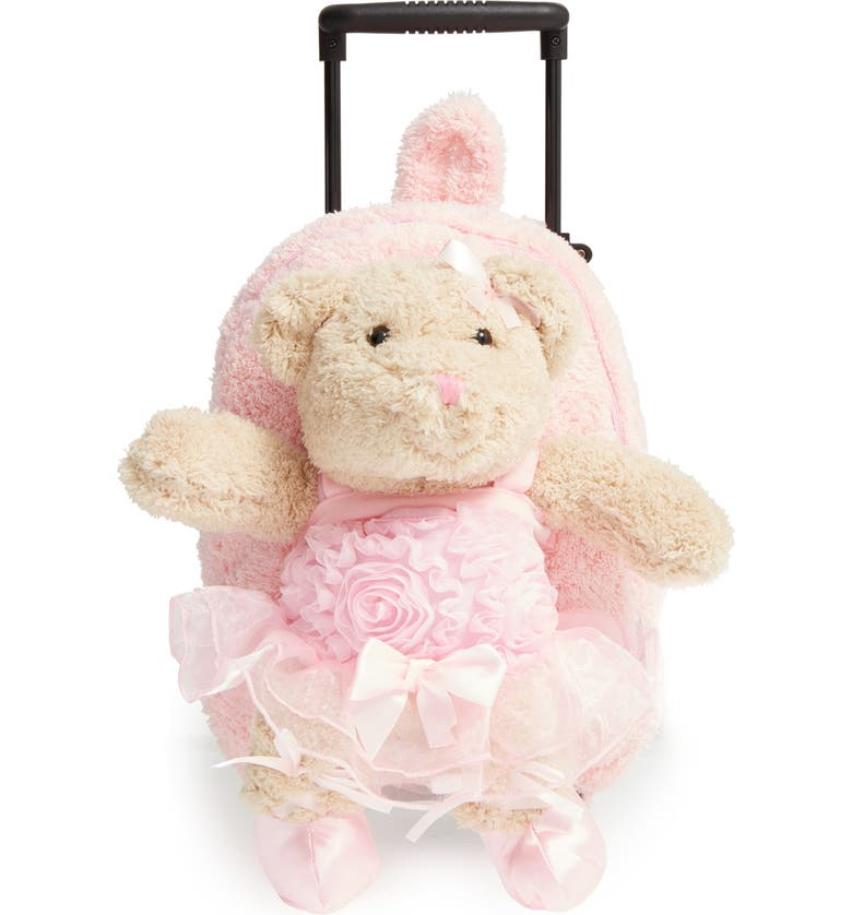 POPATU 'Trolley - Ballet Bear' Rolling Backpack, Main, color, PINK