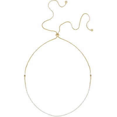 Ettika Crystal & Box Chain Choker Necklace