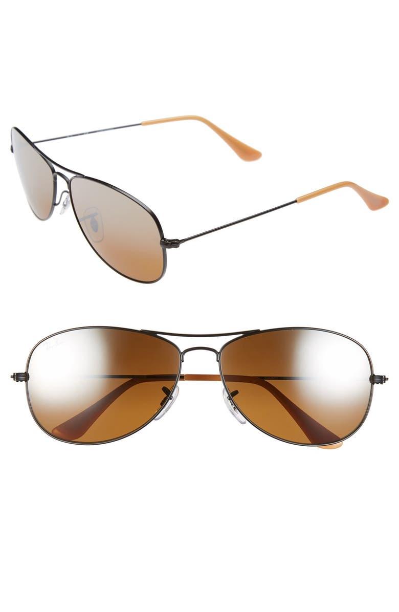 RAY-BAN 'New Classic' 59mm Aviator Sunglasses, Main, color, 200