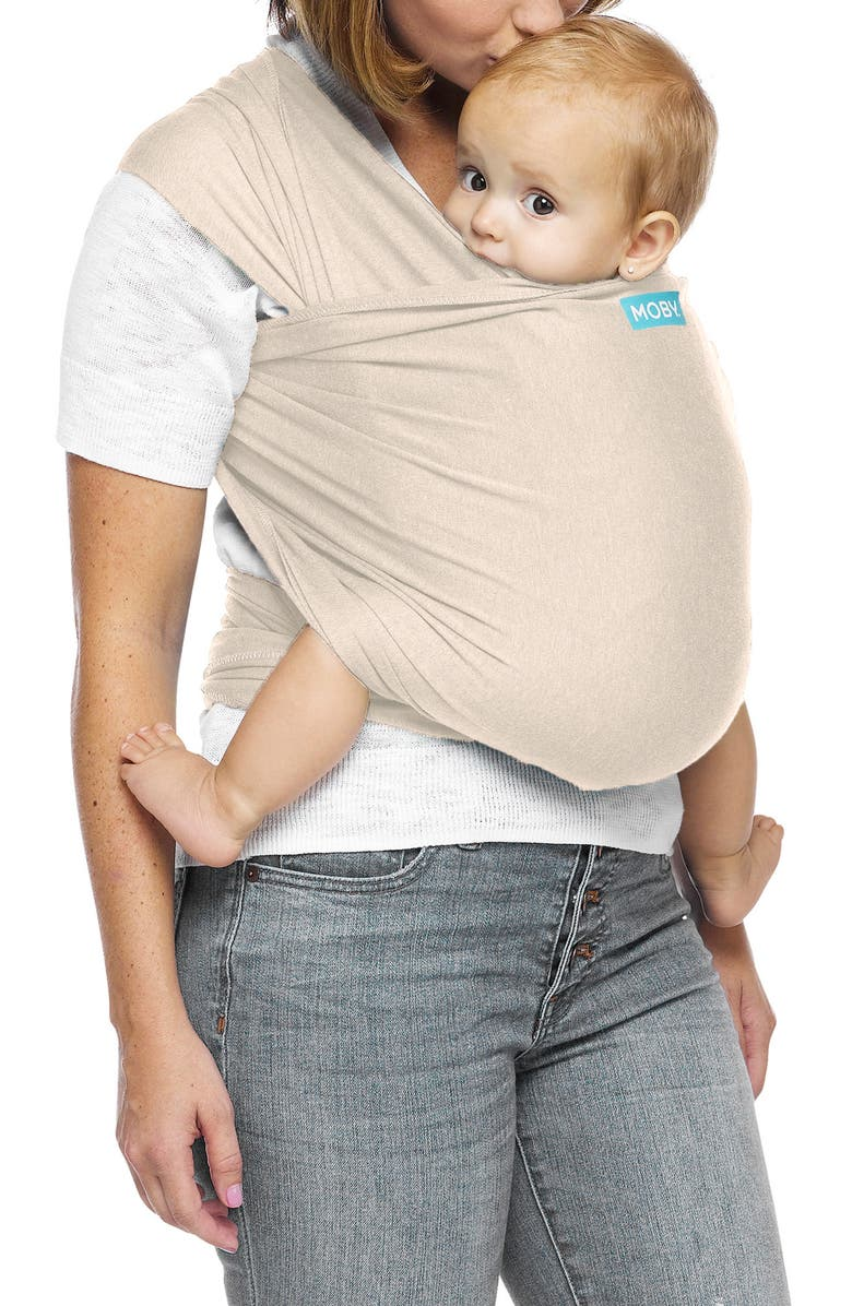 MOBY Evolution Baby Carrier, Main, color, ALMOND