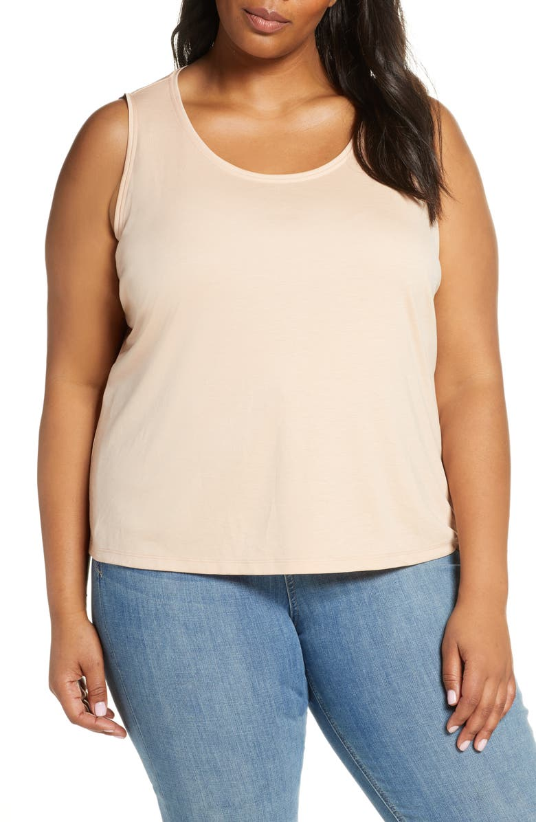 EILEEN FISHER Scooped Neck Tank, Main, color, 255