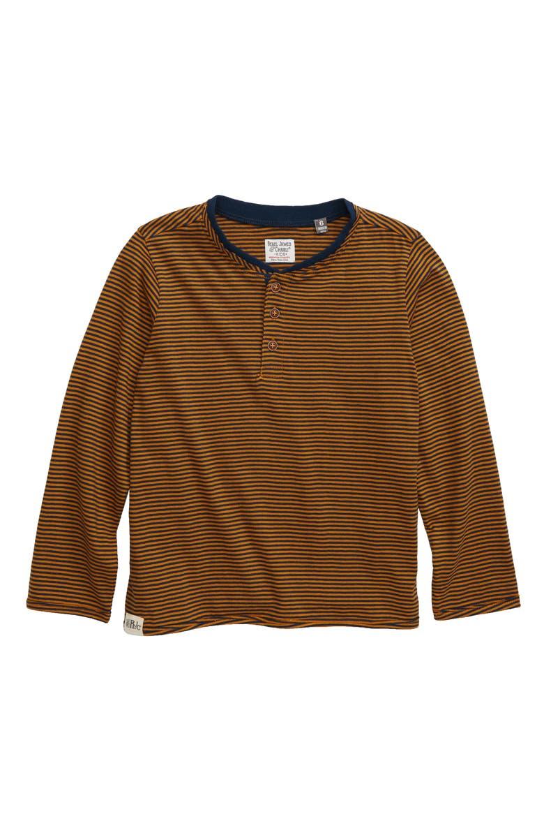 REBEL JAMES & CHARLI Microstripe Henley T-Shirt, Main, color, 200