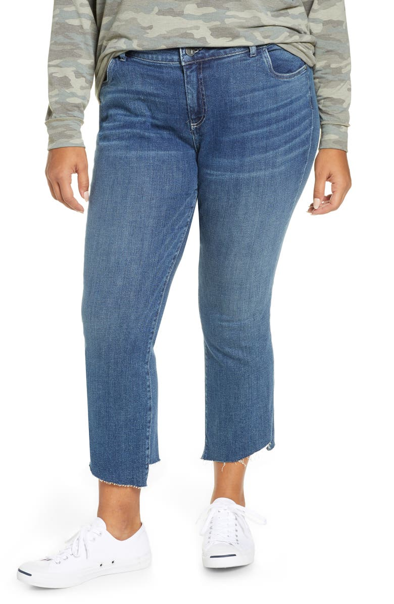 KUT FROM THE KLOTH Stell High Waist Step Hem Kick Flare Jeans, Main, color, SURROUND