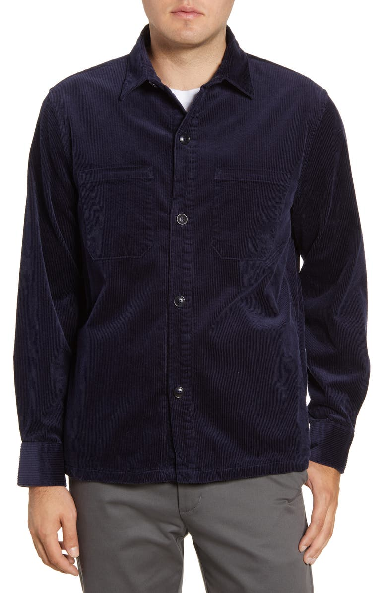 BONOBOS Slim Fit Button-Up Corduroy Shirt Jacket, Main, color, 400