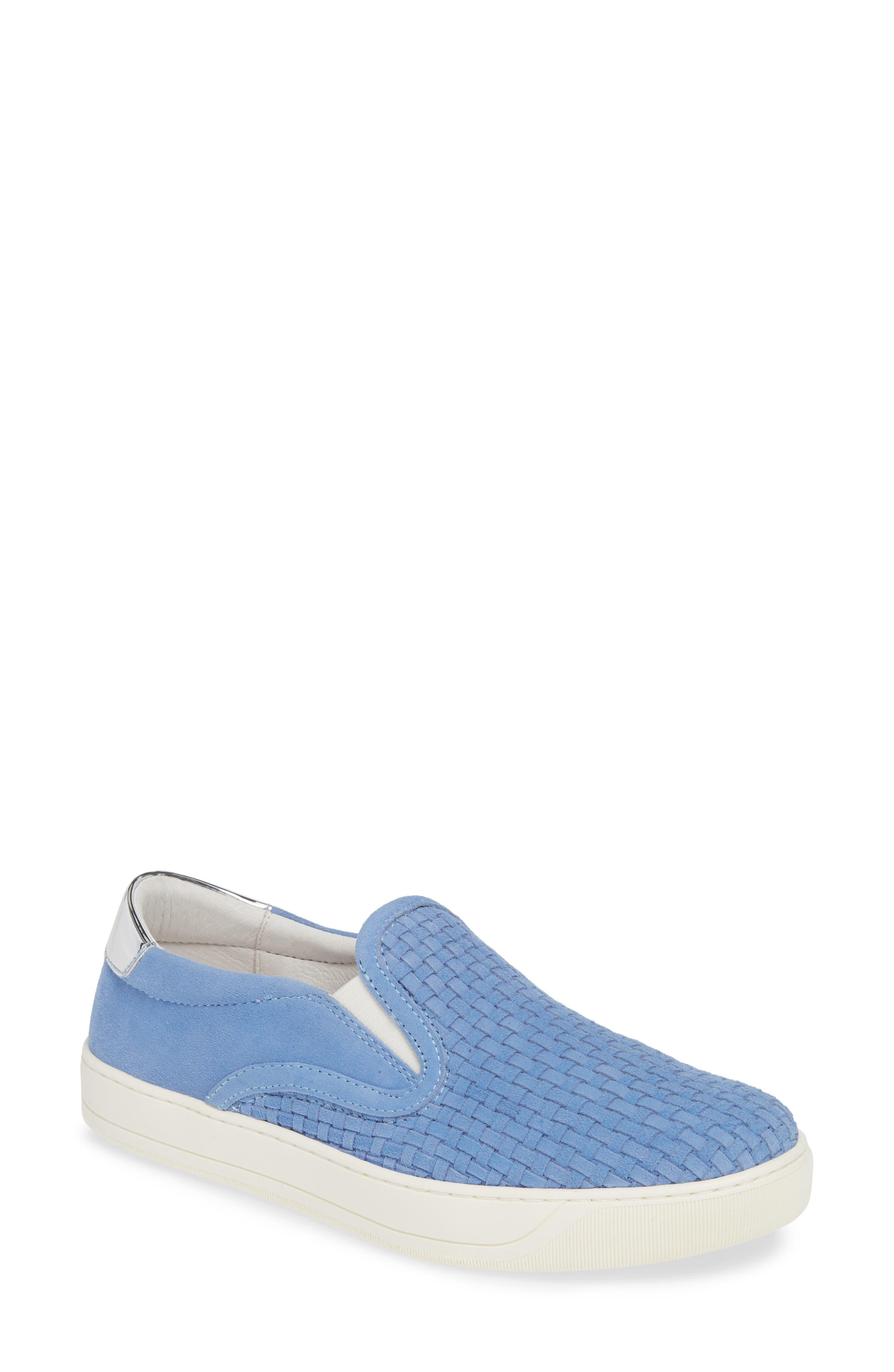 Johnston & Murphy Elaine Woven Slip-On Sneaker, Blue