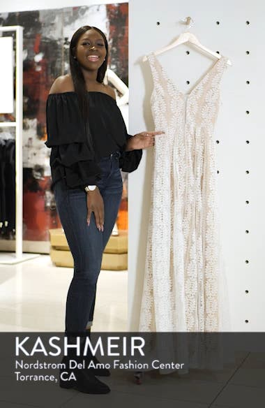 Eliana Lace V-Neck Gown, sales video thumbnail