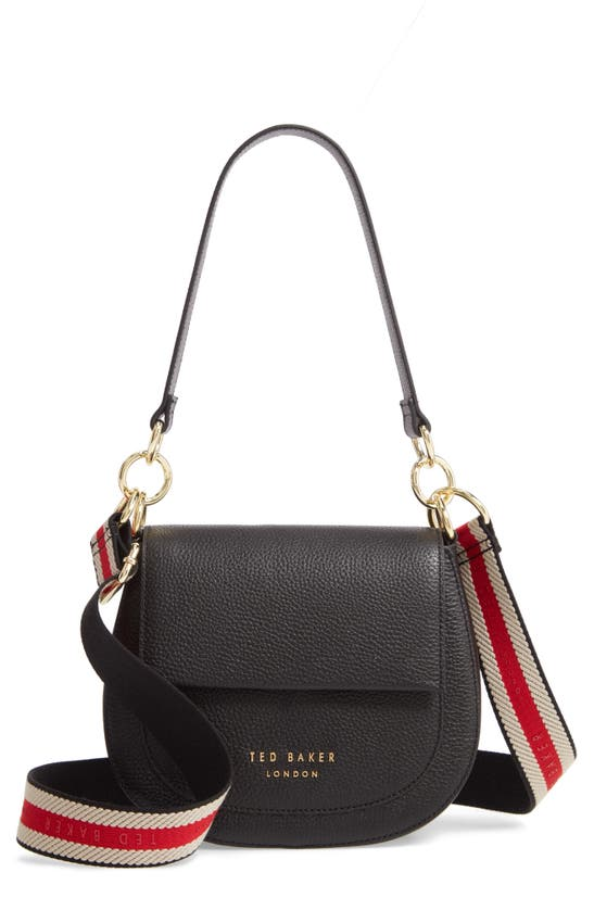 Ted Baker Amali Leather Cross-body Bag In Black