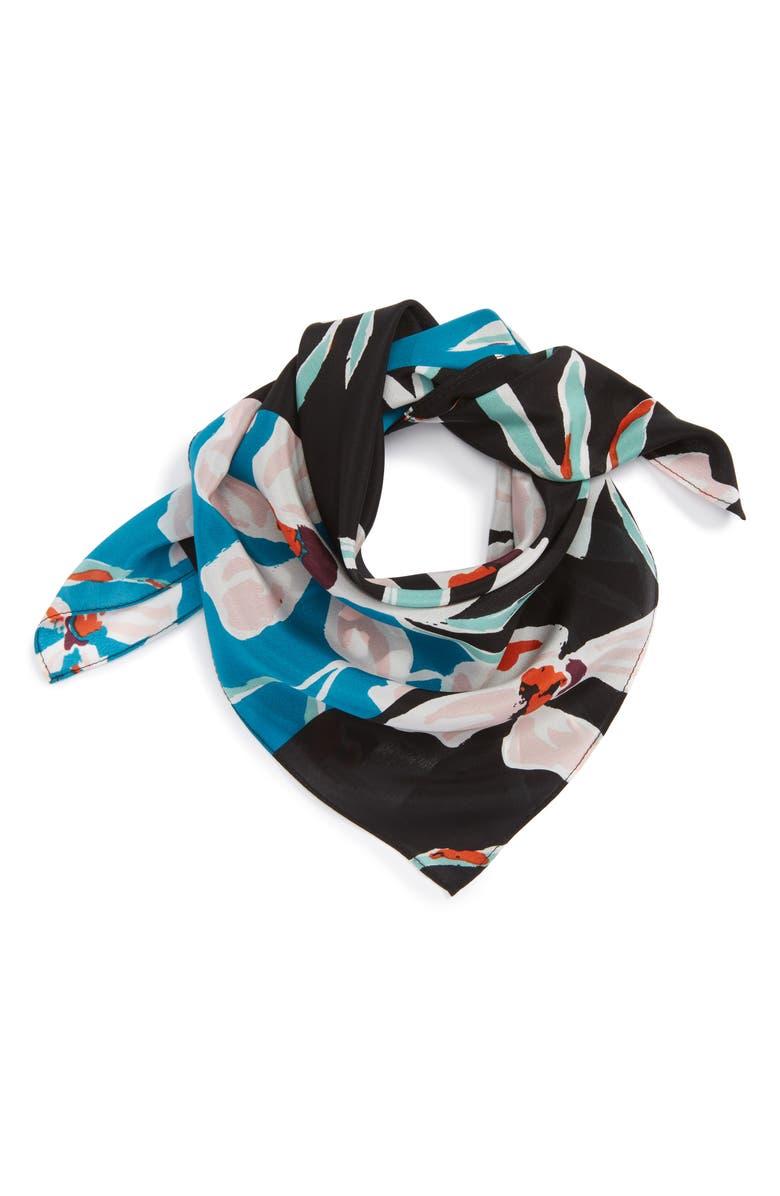 HALOGEN<SUP>®</SUP> Floral Tropicana Silk Scarf, Main, color, 001