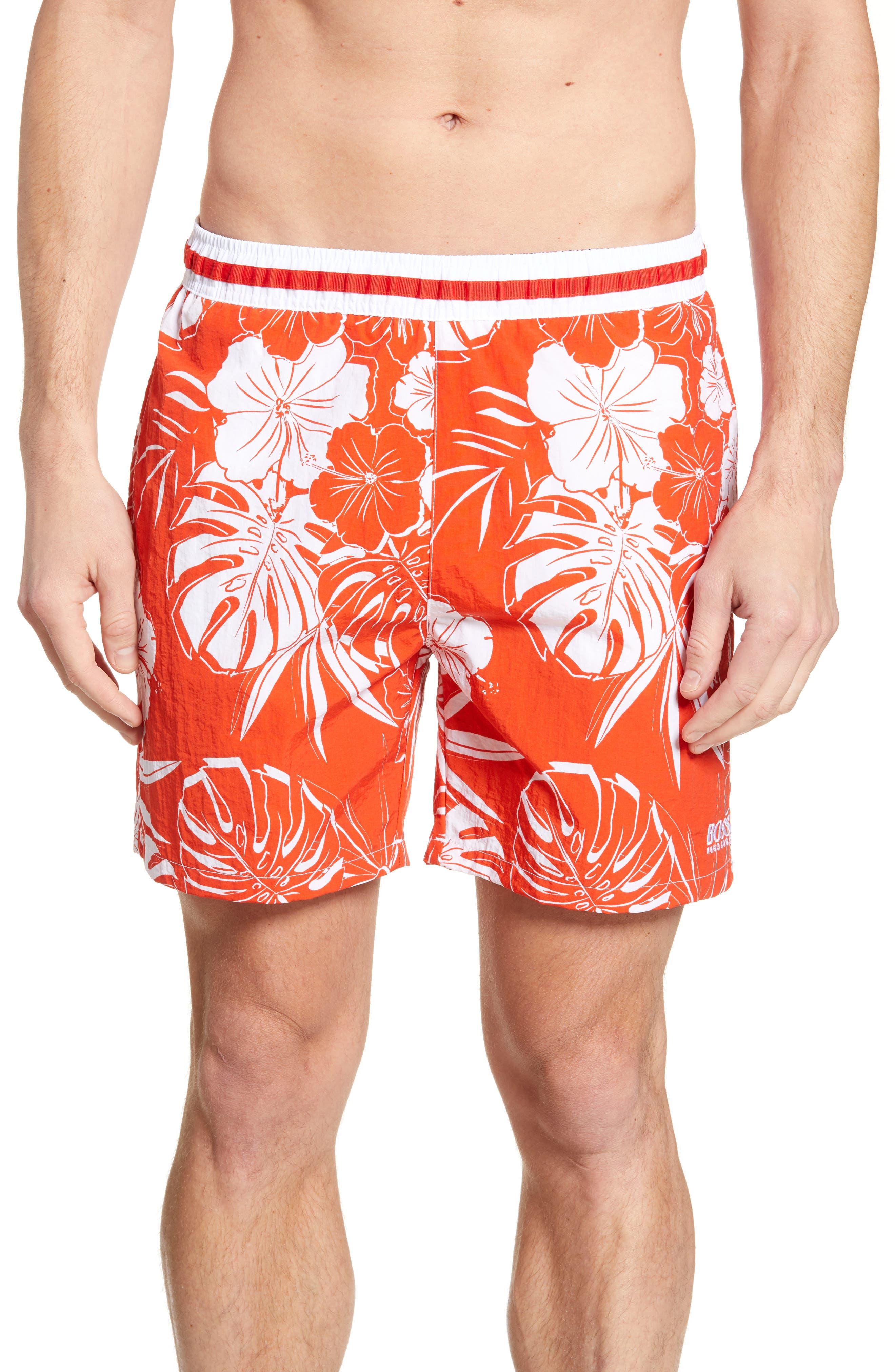 Vintage Men's Swimsuits – 1930s to 1970s History Mens Boss Goldfish Swim Trunks Size XX-Large - Red $52.80 AT vintagedancer.com