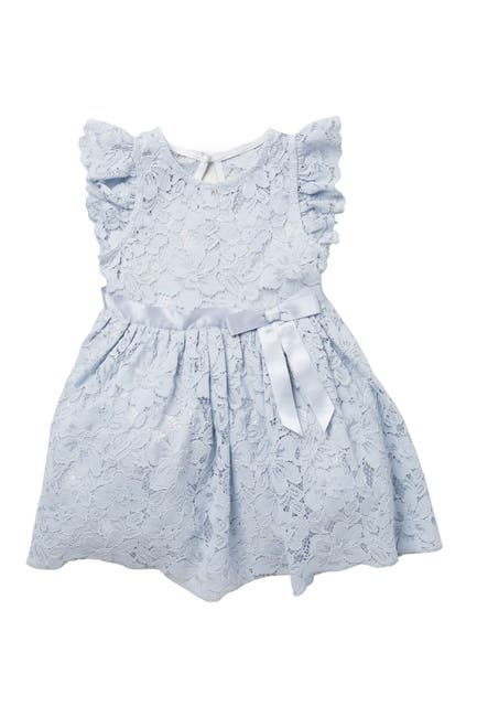 Image of Zunie Flutter Sleeve Lace Dress