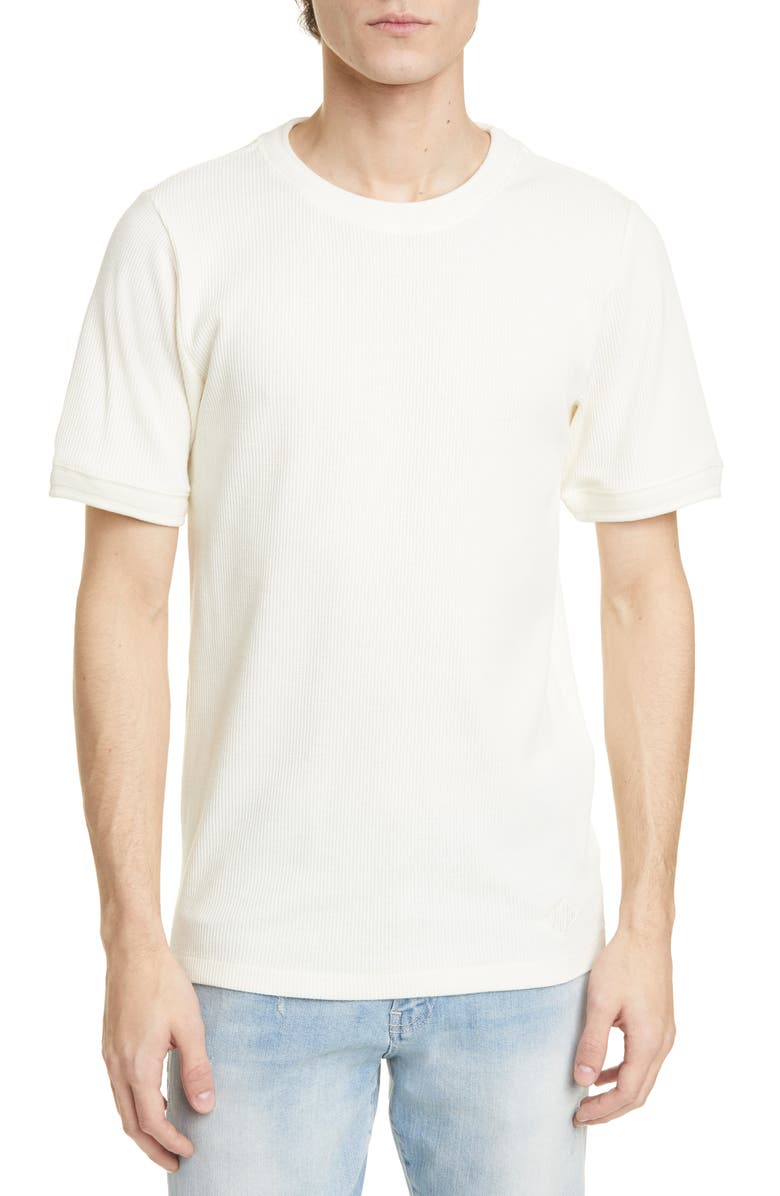 OVADIA Dawn Ribbed T-Shirt, Main, color, WHITE