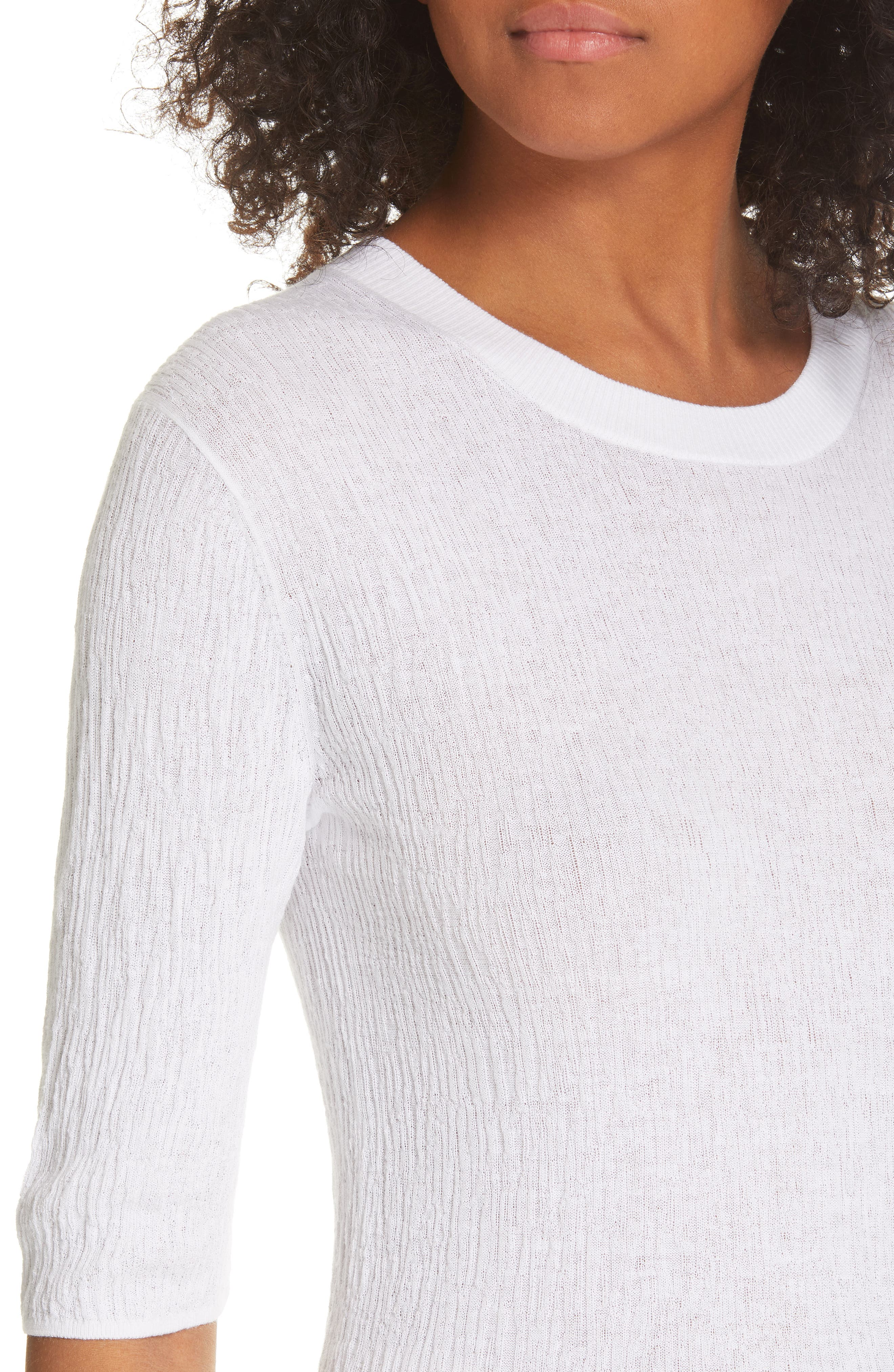 ,                             Broomstick Pleat Cotton Top,                             Alternate thumbnail 4, color,                             OPTIC WHITE