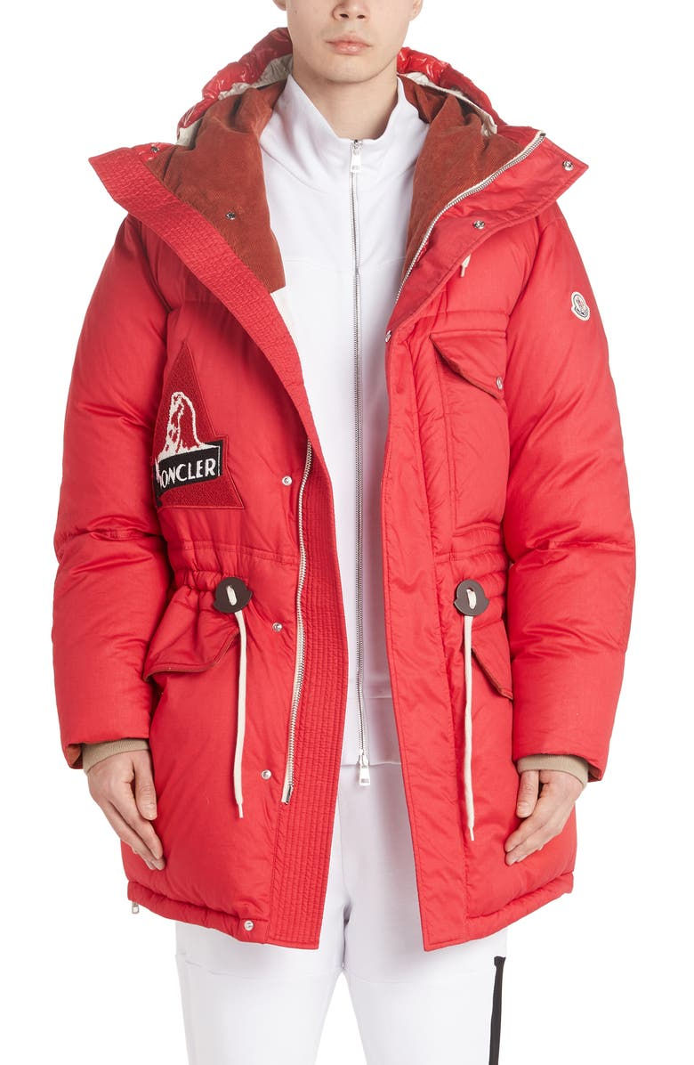 MONCLER Dedion Quilted Hooded Parka, Main, color, RED