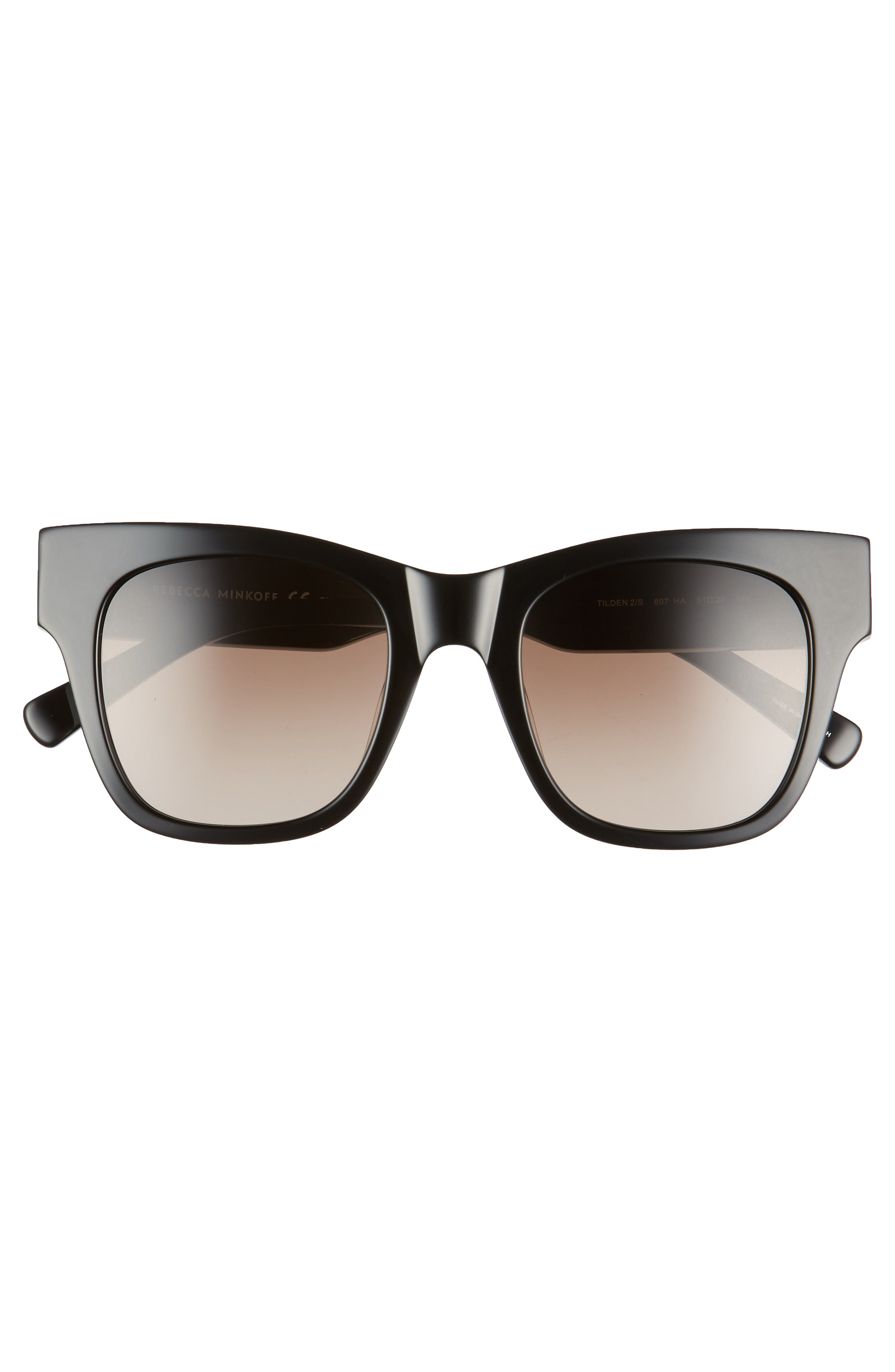 ,                             Tilden 2 51mm Gradient Square Sunglasses,                             Alternate thumbnail 3, color,                             BLACK