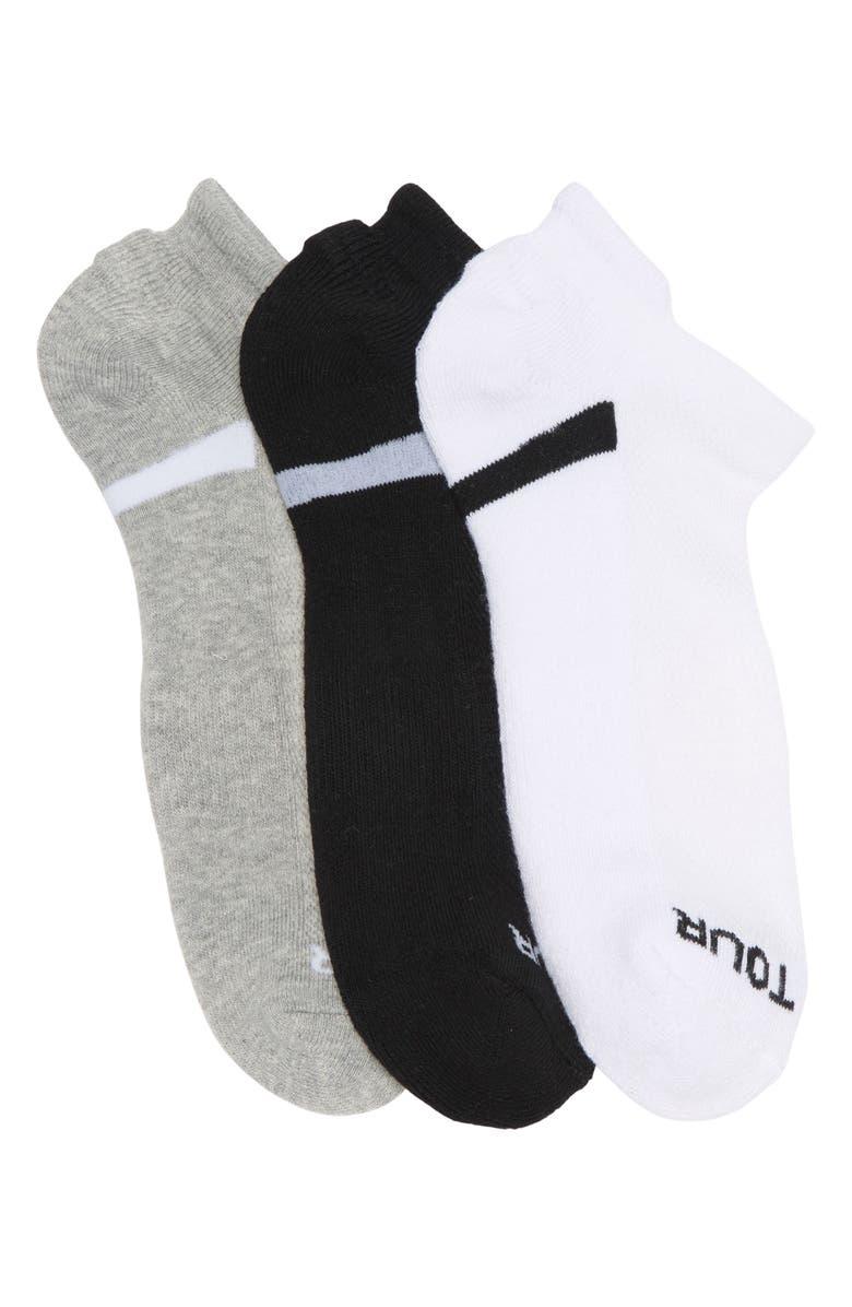 PGA TOUR Basic No Show Socks - Pack of 3, Main, color, ASSORTED 3PK 1