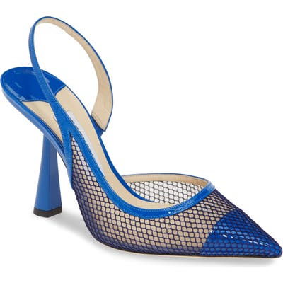 Jimmy Choo Fetto Mesh Pointy Toe Pump - Blue