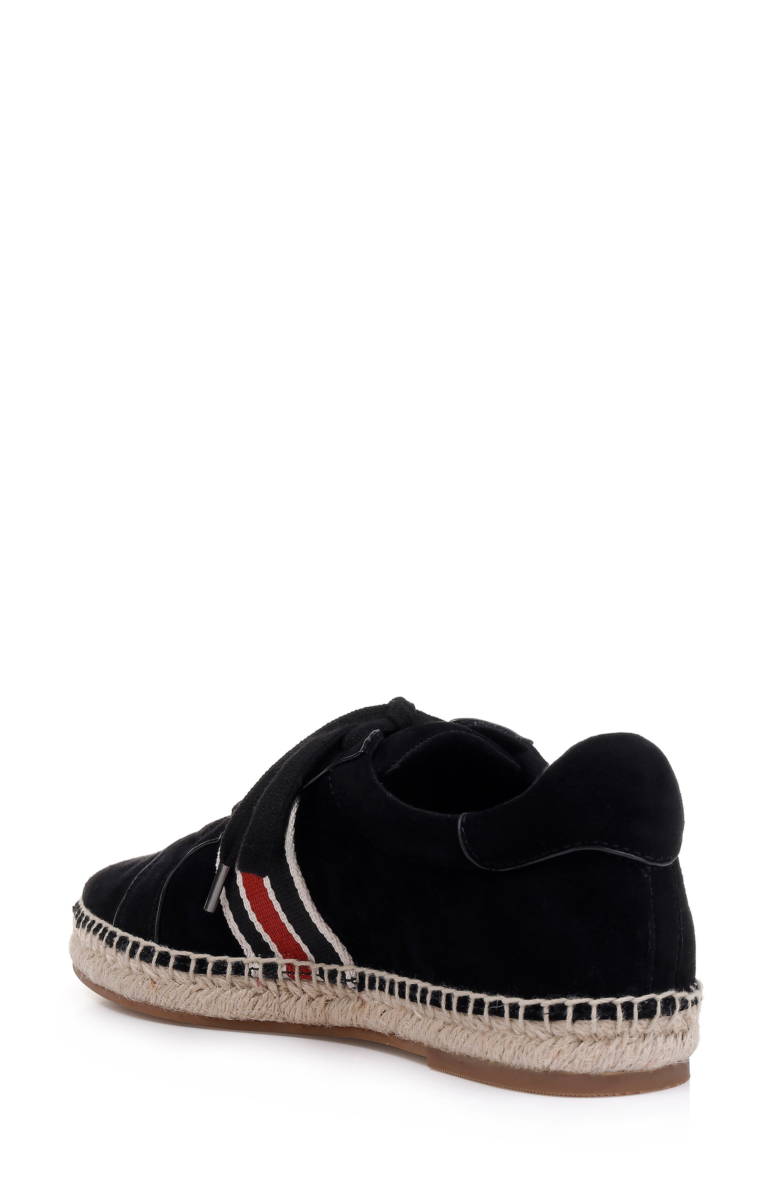 ,                             Sada Espadrille Sneaker,                             Alternate thumbnail 2, color,                             BLACK SUEDE