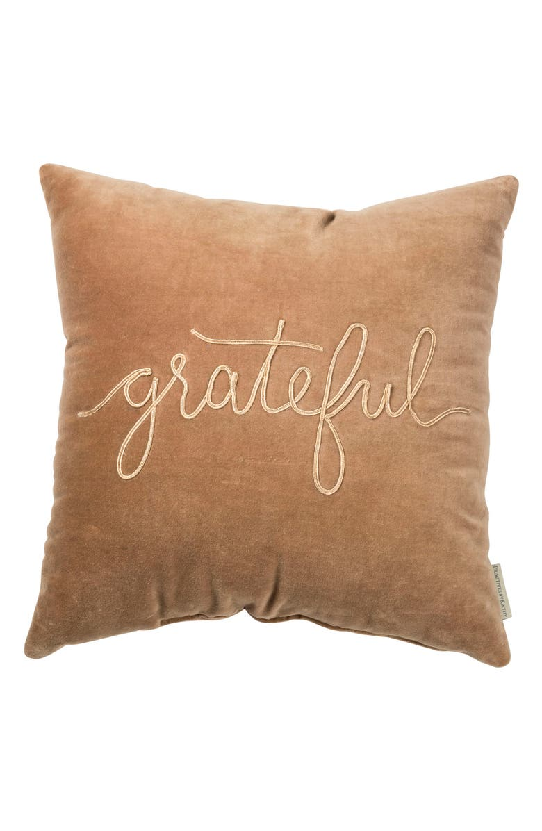 PRIMITIVES BY KATHY Grateful Velvet Accent Pillow, Main, color, 251