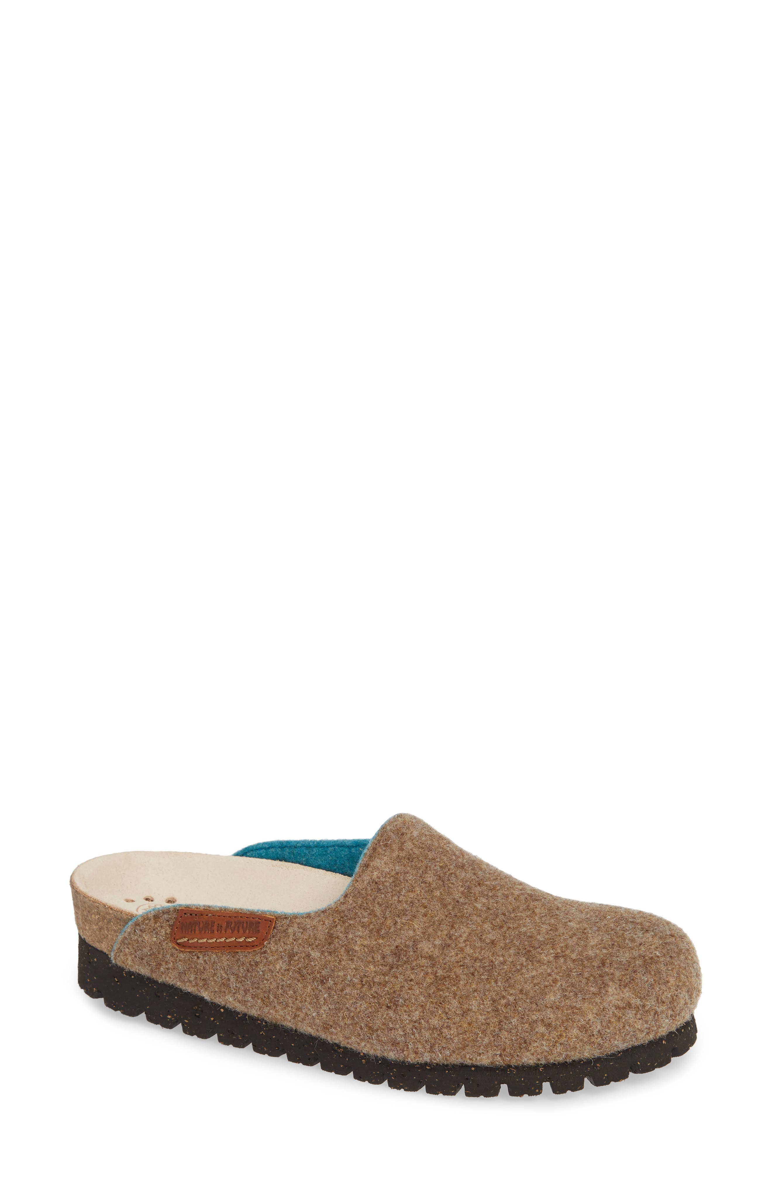 Mephisto Thea Boiled Wool Clog, Beige