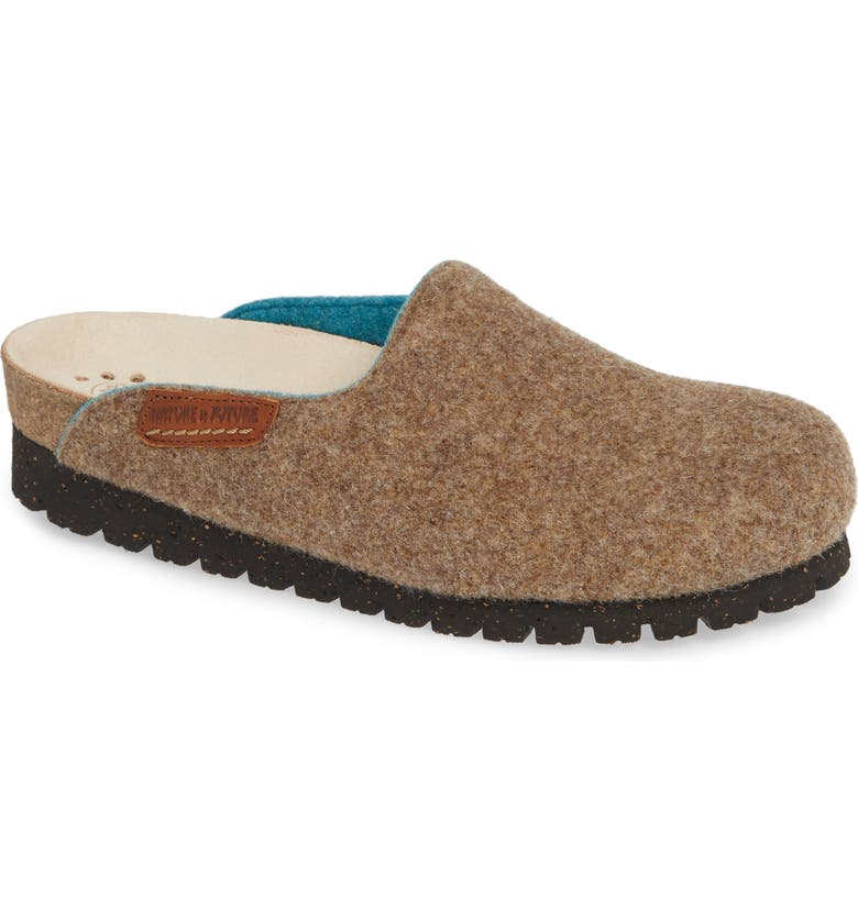 MEPHISTO Thea Boiled Wool Clog, Main, color, TAUPE FABRIC