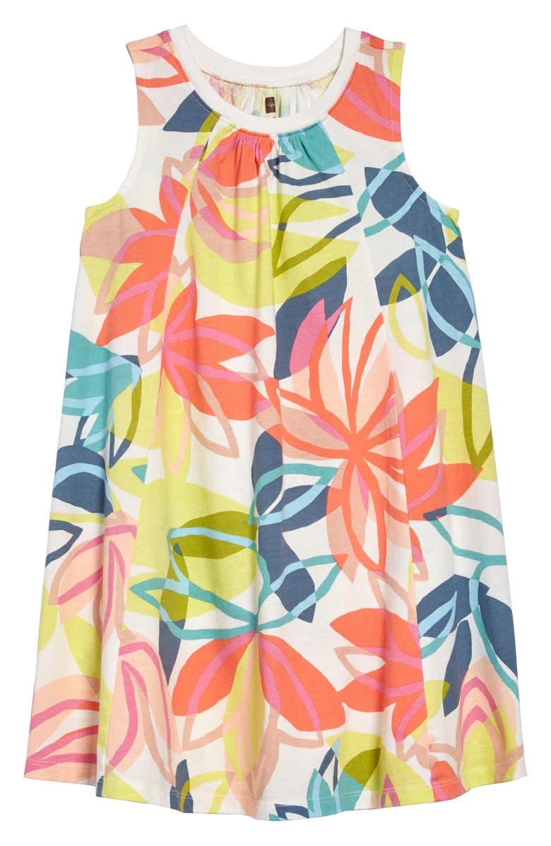 TEA COLLECTION Print Trapeze Dress, Main, color, 650