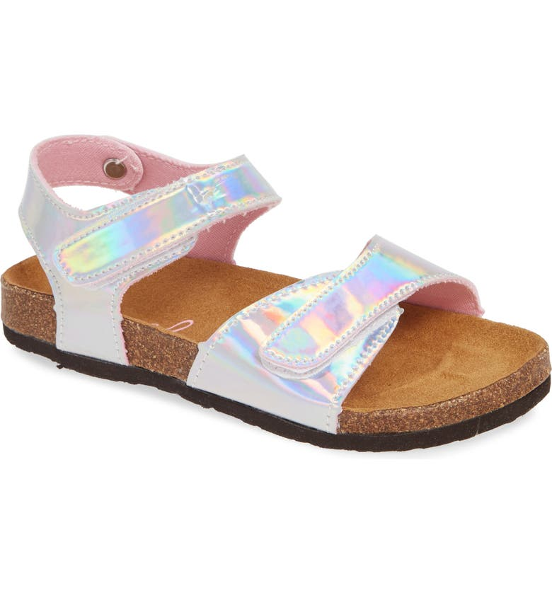 JOULES Tippy Toes Sandal, Main, color, METALLIC SILVER