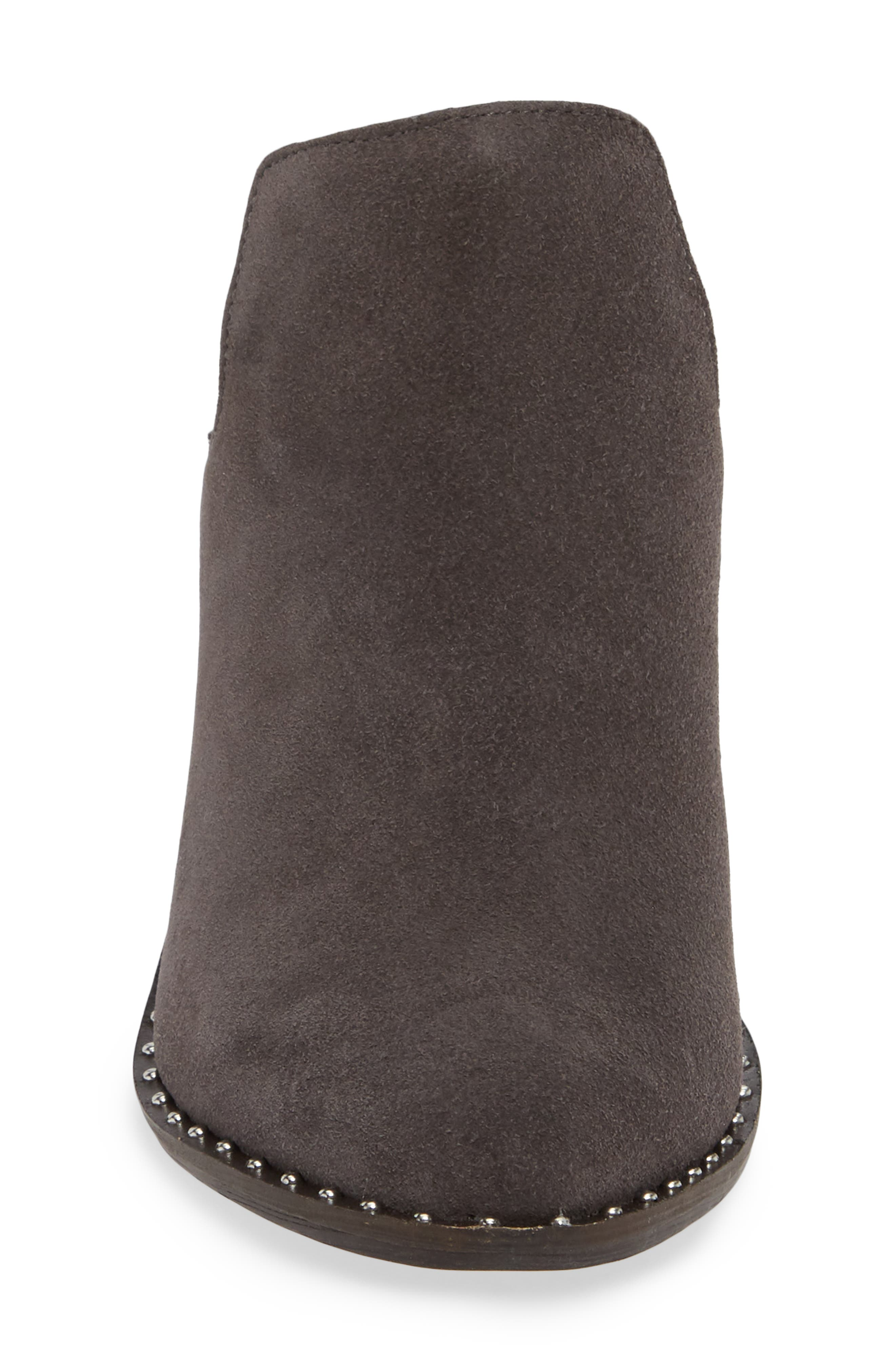 ,                             Springfield Mule Bootie,                             Alternate thumbnail 4, color,                             CHARCOAL SUEDE