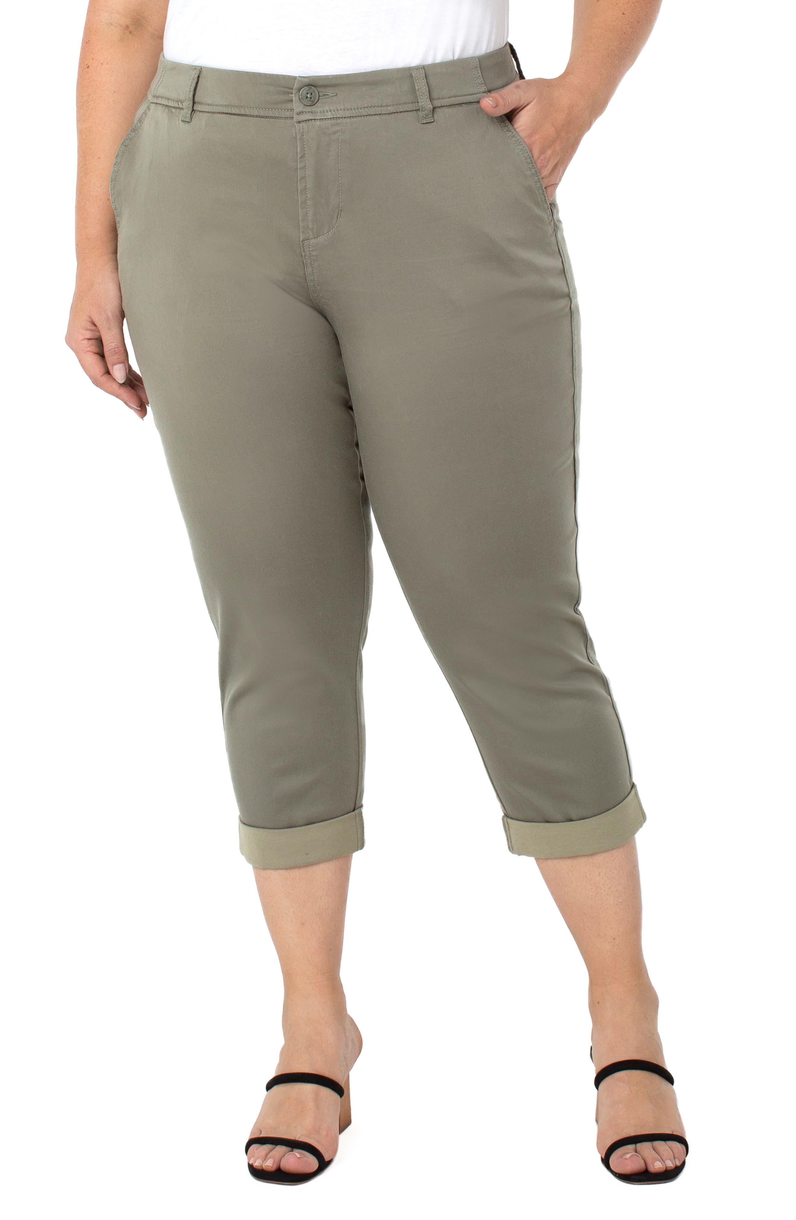 High Waist Skinny Fit Trouser Capris