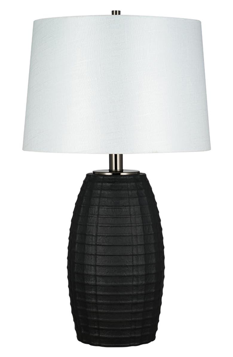 JALEXANDER LIGHTING Textured Table Lamp, Main, color, BLACK