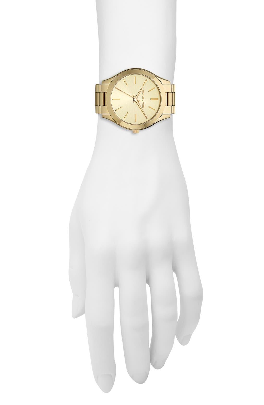,                             'Slim Runway' Bracelet Watch, 42mm,                             Alternate thumbnail 40, color,                             710